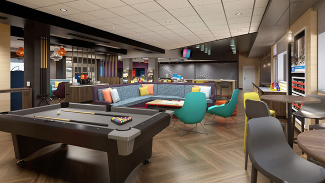 The new hampton by hilton and tru by hilton prototypes for Hotel designer