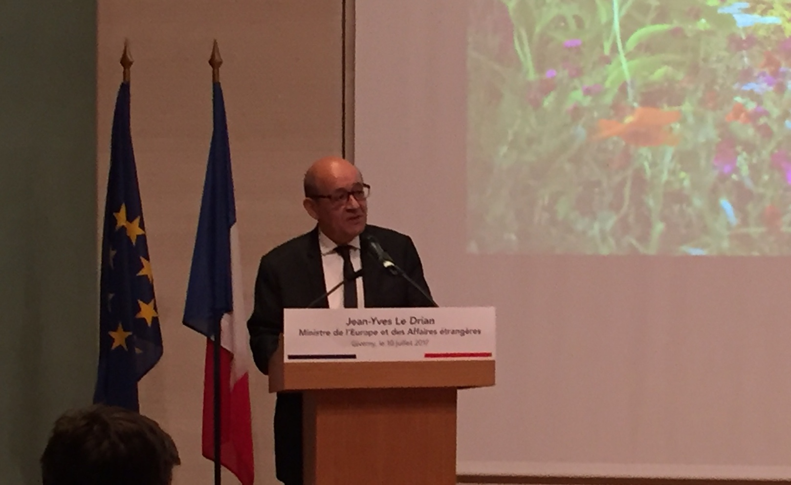 French government jean yves le drian tourism as a priority