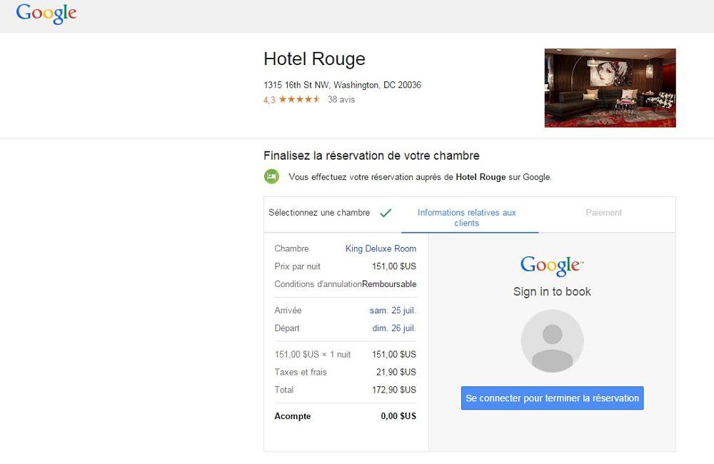 R server son h tel sans quitter google c 39 est d sormais for Moteur de recherche reservation hotel