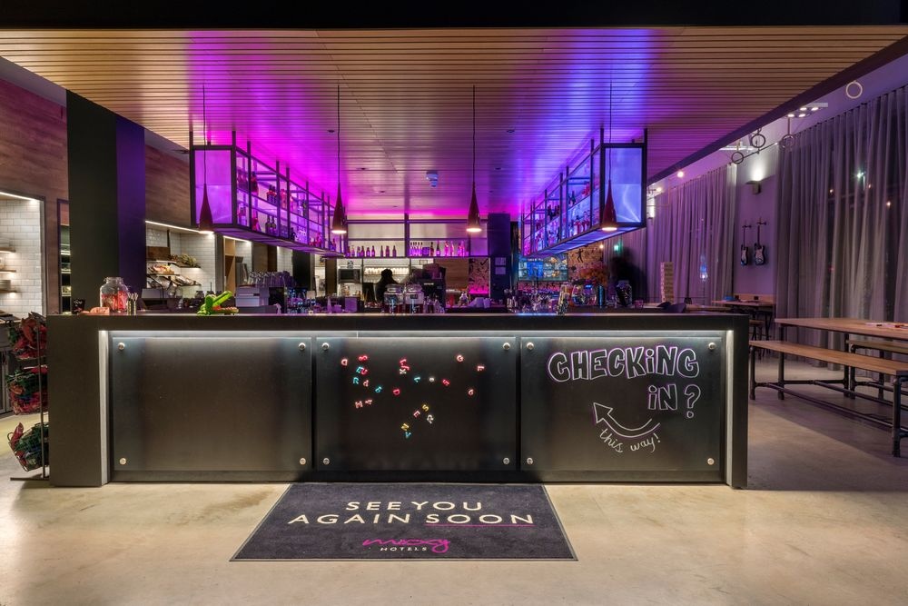 Réception du Moxy London Stratford