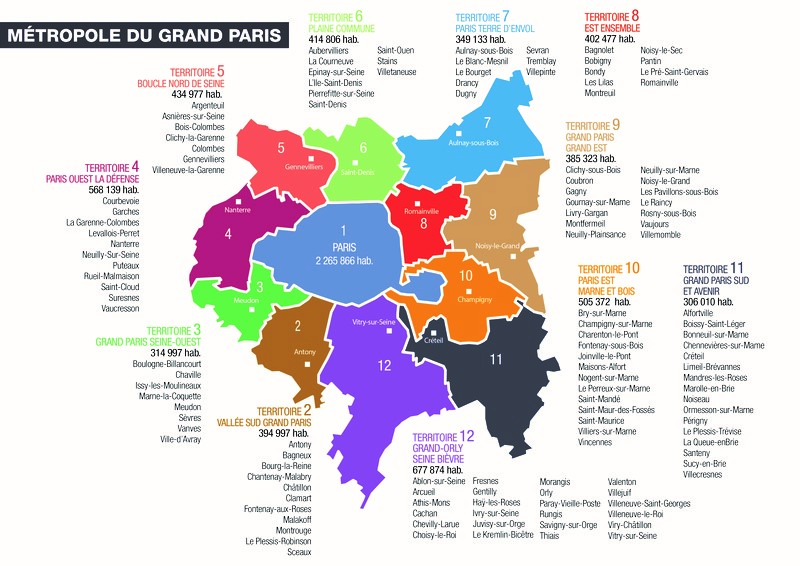 Les communes du Grand Paris
