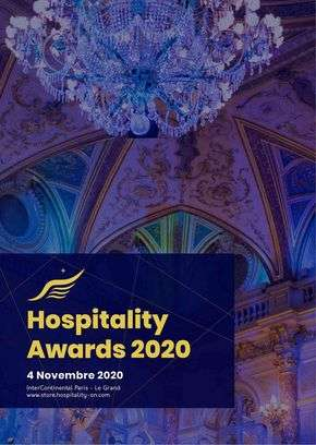 Hospitality Awards: Attend the ceremony