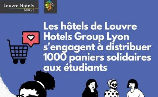 Distribution solidaire Louvre Hotels