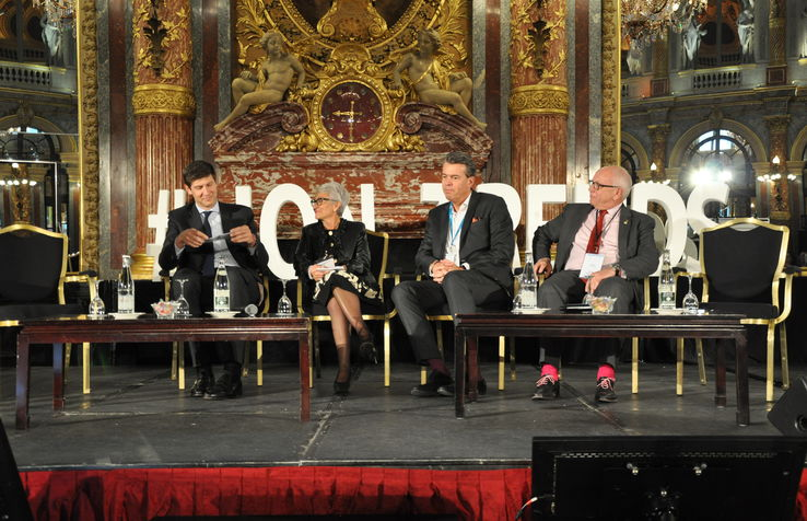 From left to right: Benoît-Etienne Domenget, Evelyne Chabrot, Jochem-Jan Sleiffer and Michel Rochat