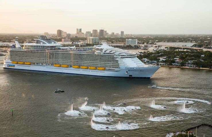 With a capacity of 6,680 guests, the Harmony of the Seas is the largest cruise ship in the world.
