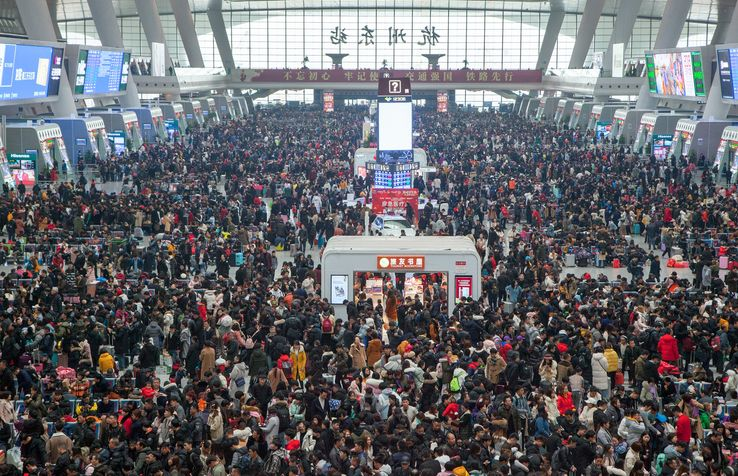 Gare de Hangzhou Est le 29 janvier 2019 Source: Visual China Group