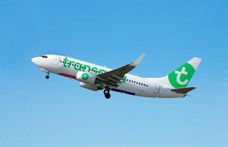Avion Transavia au décollage