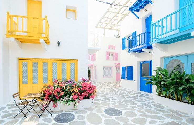 Street in a Greek Village