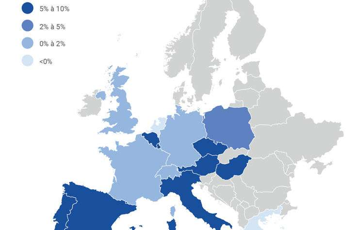 Europe map performances hotels