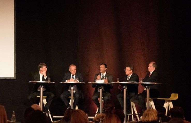 M. Jauslin, Area VP Operations Hyatt France; G. Gellens General Director Radisson Blu Royal Hotel Brussels; S. Nazaraly CEO Orea Management; T. Schultze, General Director Deutsche Hospitality, Berlin; F. Senuslu, General Director Intercontinental Istanbul