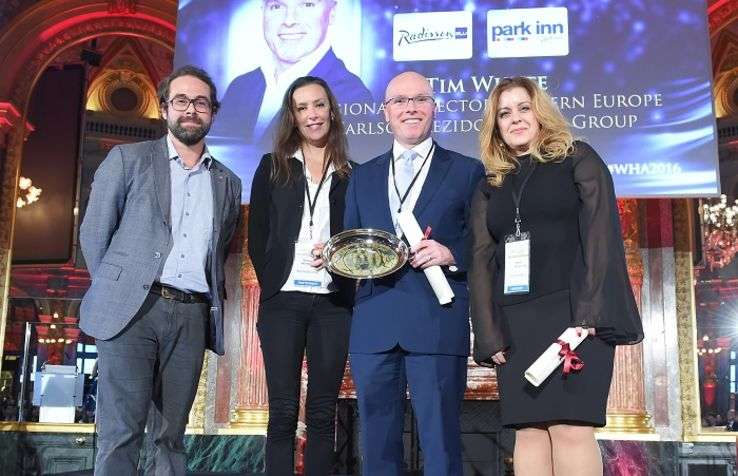Antoine Dubois, Communication, Advertising, Social Media Senior VP AccorHotels, Vanessa Heydorff, DG France, Espagne & Portugal Booking, Tim Whyte, Regional Director Western Europe Carlson Rezidor, Stavrie Varnavidou, Online Sales & Marketing, Louis Hotel