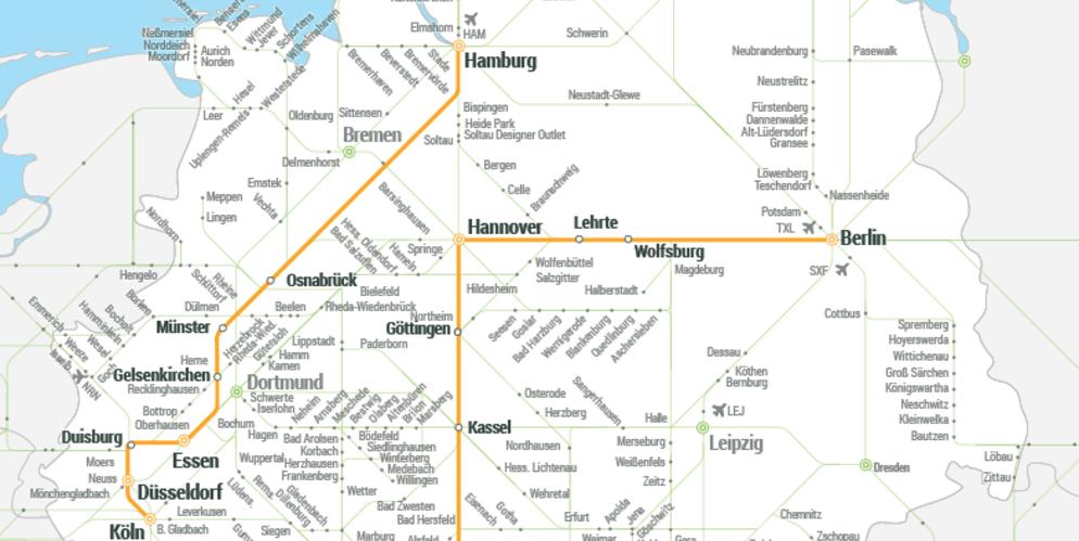 Carte Flixbus Europe.Flixbus Se Lance Sur Les Rails Allemands Avec Flixtrain