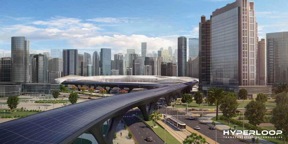 HyperloopTT Station aux Emirats arabes unies