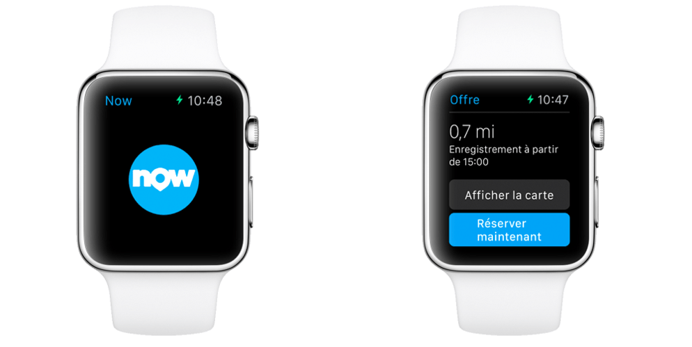 Booking Now sur Apple Watch