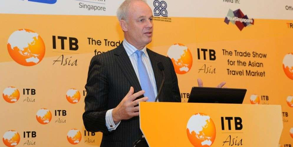 David Scowsill, World Travel & Tourism Council President & CEO at ITB Asia 2012 Opening Press Conferece
