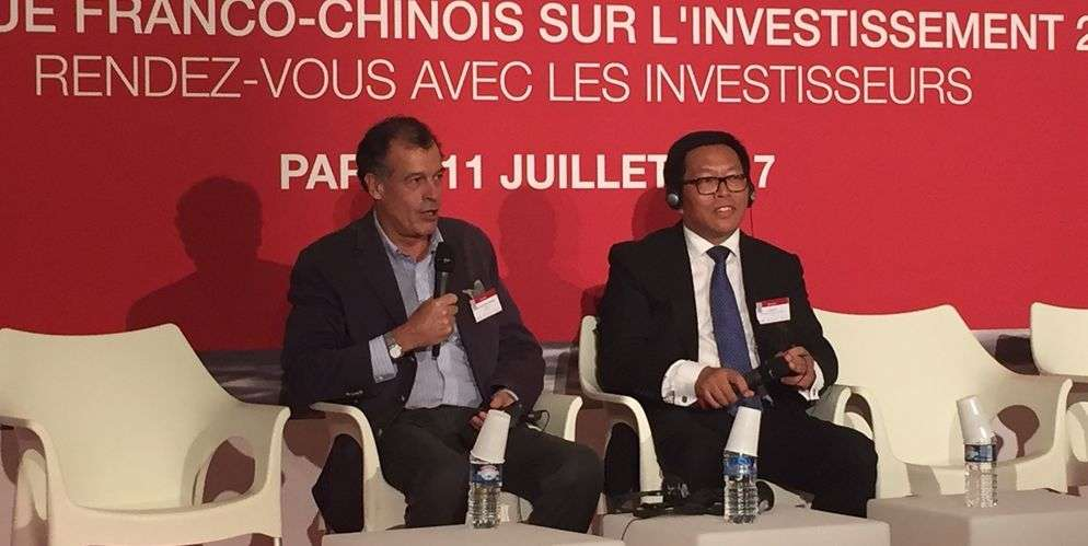 Henri Giscard d'Estaing (Club Med) et Jim Qian (Fosun)