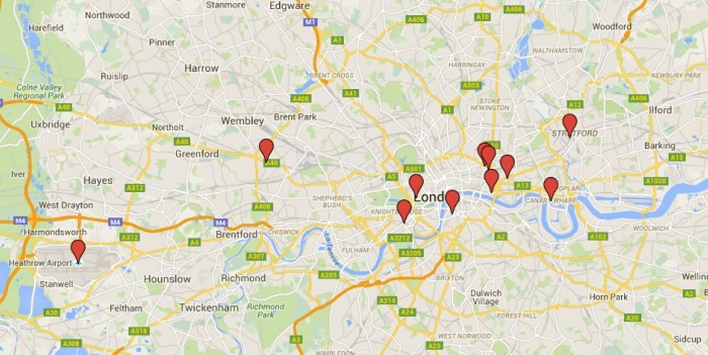 Focus on 12 hotels about to blossom in London Interactive map